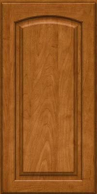Arch Raised Panel - Solid (PWM) Maple in Golden Lager - Wall