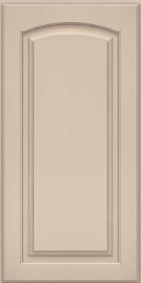 Arch Raised Panel - Solid (PWM) Maple in Mushroom w/ Cinder Glaze - Wall