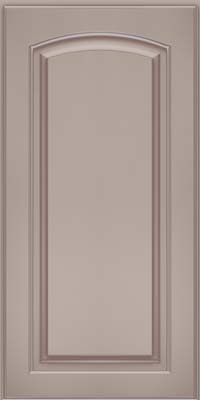 Arch Raised Panel - Solid (PWM) Maple in Pebble Grey w/ Coconut Glaze - Wall