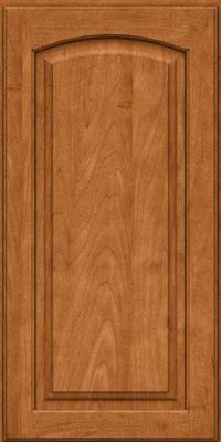 Arch Raised Panel - Solid (PWM) Maple in Praline w/Mocha Highlight - Wall