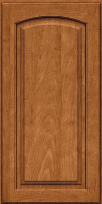 Arch Raised Panel - Solid (PWM) Maple in Praline w/Onyx Glaze - Wall