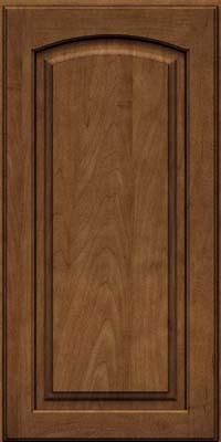 Arch Raised Panel - Solid (PWM) Maple in Rye w/Onyx Glaze - Wall