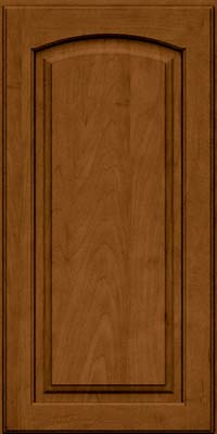 Arch Raised Panel - Solid (PWM) Maple in Rye w/Sable Glaze - Wall