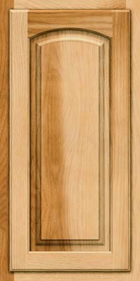 Arch Raised Panel - Solid (TWAH) Hickory in Natural - Wall