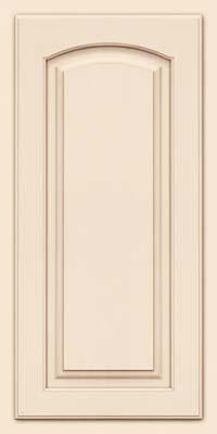 Arch Raised Panel - Solid (TWAM) Maple in Canvas w/Cocoa Glaze - Wall