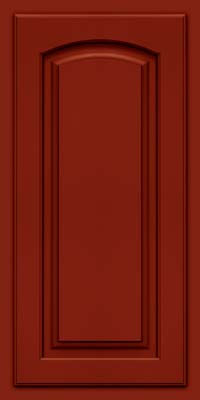 Arch Raised Panel - Solid (TWAM) Maple in Cardinal w/Onyx Glaze - Wall