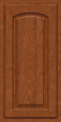 Arch Raised Panel - Solid (TWAM) Maple in Chestnut - Wall