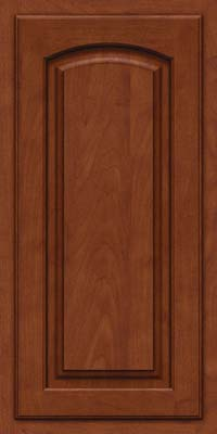 Arch Raised Panel - Solid (TWAM) Maple in Chestnut w/Onyx Glaze - Wall