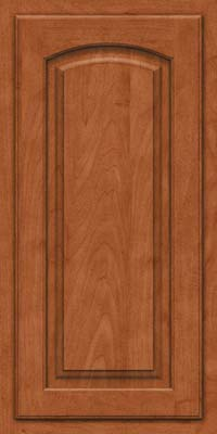 Arch Raised Panel - Solid (TWAM) Maple in Cinnamon - Wall