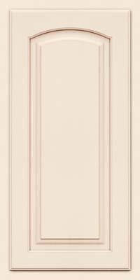 Arch Raised Panel - Solid (TWAM) Maple in Dove White w/Cocoa Glaze - Wall