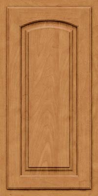 Arch Raised Panel - Solid (TWAM) Maple in Ginger w/Sable Glaze - Wall