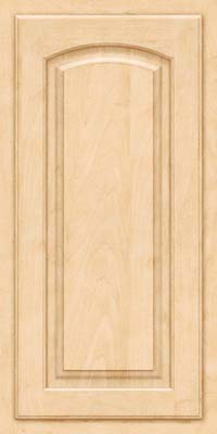 Arch Raised Panel - Solid (TWAM) Maple in Natural - Wall