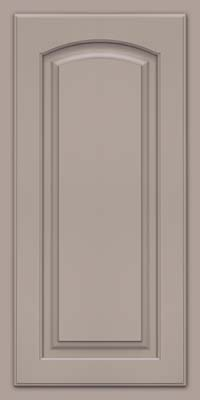 Arch Raised Panel - Solid (TWAM) Maple in Pebble Grey - Wall