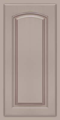 Arch Raised Panel - Solid (TWAM) Maple in Pebble Grey w/ Cocoa Glaze - Wall