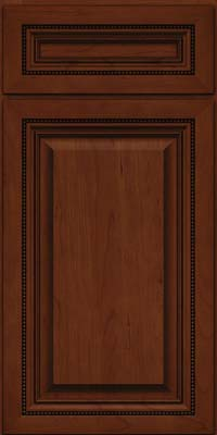 Square Raised Panel - Solid (ALC) Cherry in Autumn Blush w/Onyx Glaze - Base