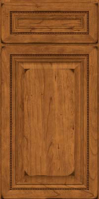 Square Raised Panel - Solid (ALC) Cherry in Burnished Golden Lager - Base