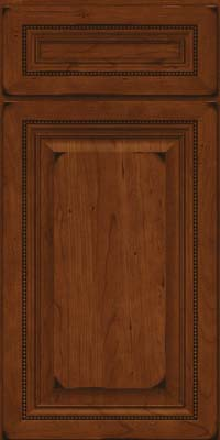 Square Raised Panel - Solid (ALC) Cherry in Burnished Autumn Blush - Base