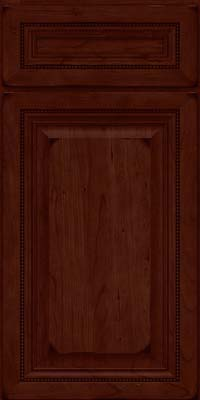 Square Raised Panel - Solid (ALC) Cherry in Burnished Cabernet - Base