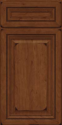 Square Raised Panel - Solid (ALC) Cherry in Burnished Chocolate - Base