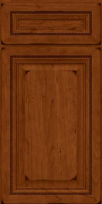 Square Raised Panel - Solid (ALC) Cherry in Burnished Cinnamon - Base
