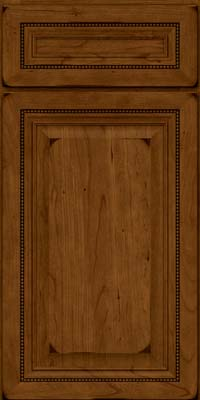 Square Raised Panel - Solid (ALC) Cherry in Burnished Ginger - Base