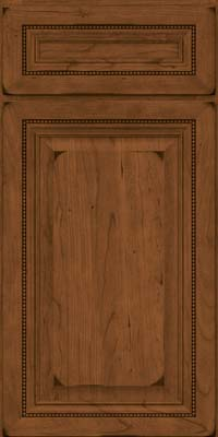 Square Raised Panel - Solid (ALC) Cherry in Burnished Rye - Base