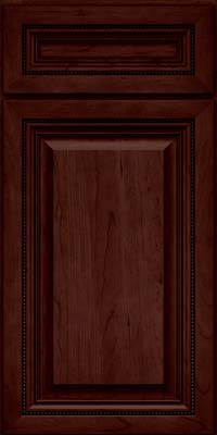 Square Raised Panel - Solid (ALC) Cherry in Cabernet - Base