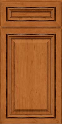 Square Raised Panel - Solid (ALC) Cherry in Honey Spice - Base
