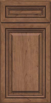 Square Raised Panel - Solid (ALC) Cherry in Husk Suede - Base