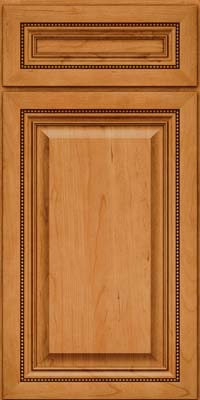 Square Raised Panel - Solid (ALC) Cherry in Natural - Base