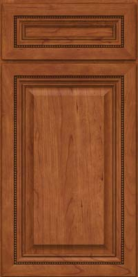 Square Raised Panel - Solid (ALC) Cherry in Sunset - Base