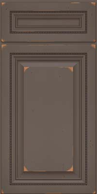 Square Raised Panel - Solid (ALC) Cherry in Vintage Greyloft w/ Sable Patina - Base