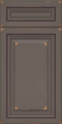 Square Raised Panel - Solid (ALC) Cherry in Vintage Greyloft - Base