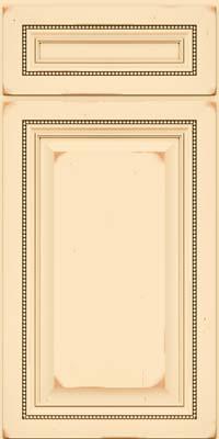 Square Raised Panel - Solid (ALC) Cherry in Vintage Biscotti w/Cocoa Patina - Base