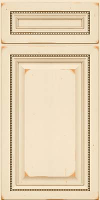 Square Raised Panel - Solid (ALC) Cherry in Vintage Canvas w/Cocoa Patina - Base