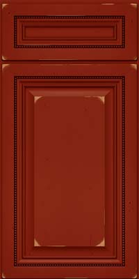 Square Raised Panel - Solid (ALC) Cherry in Vintage Cardinal - Base