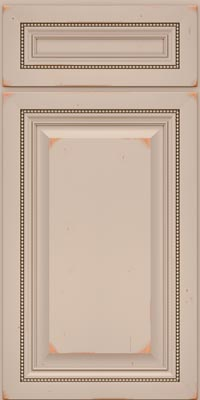 Square Raised Panel - Solid (ALC1) Cherry in Vintage Chai - Base