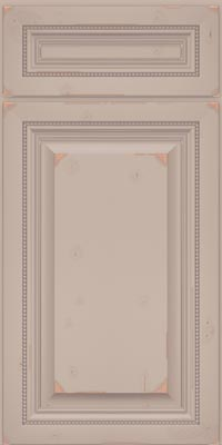 Square Raised Panel - Solid (ALC1) Cherry in Vintage Chai w/Coconut Patina - Base