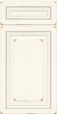 Square Raised Panel - Solid (ALC) Cherry in Vintage Dove White - Base