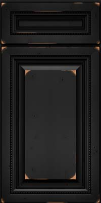 Square Raised Panel - Solid (ALC) Cherry in Vintage Onyx - Base