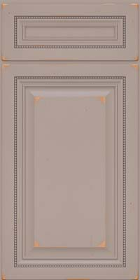 Square Raised Panel - Solid (ALC) Cherry in Vintage Pebble Grey - Base