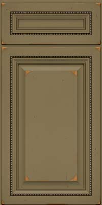 Square Raised Panel - Solid (ALC) Cherry in Vintage Sage - Base