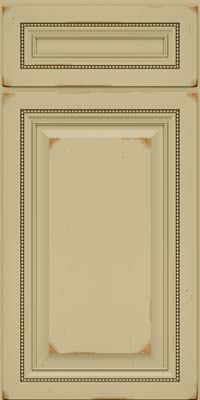 Square Raised Panel - Solid (ALC) Cherry in Vintage Willow - Base
