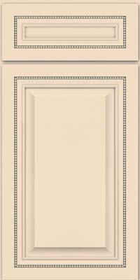 Square Raised Panel - Solid (ALM) Maple in Biscotti w/ Cinder Glaze - Base