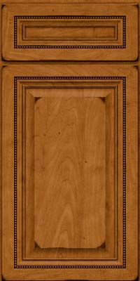 Square Raised Panel - Solid (ALM) Maple in Burnished Golden Lager - Base