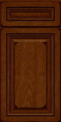 Square Raised Panel - Solid (ALM) Maple in Burnished Chestnut - Base