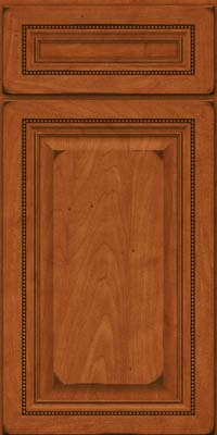 Square Raised Panel - Solid (ALM) Maple in Burnished Cinnamon - Base