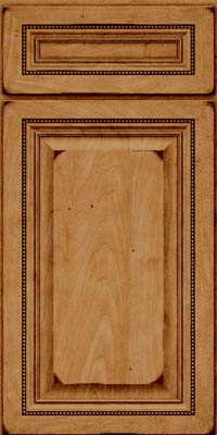 Square Raised Panel - Solid (ALM) Maple in Burnished Ginger - Base