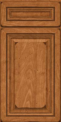 Square Raised Panel - Solid (ALM) Maple in Burnished Praline - Base