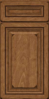 Square Raised Panel - Solid (ALM) Maple in Burnished Rye - Base
